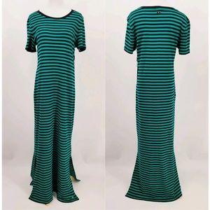 NWT Calvin Klein maxi dress stripped size M
